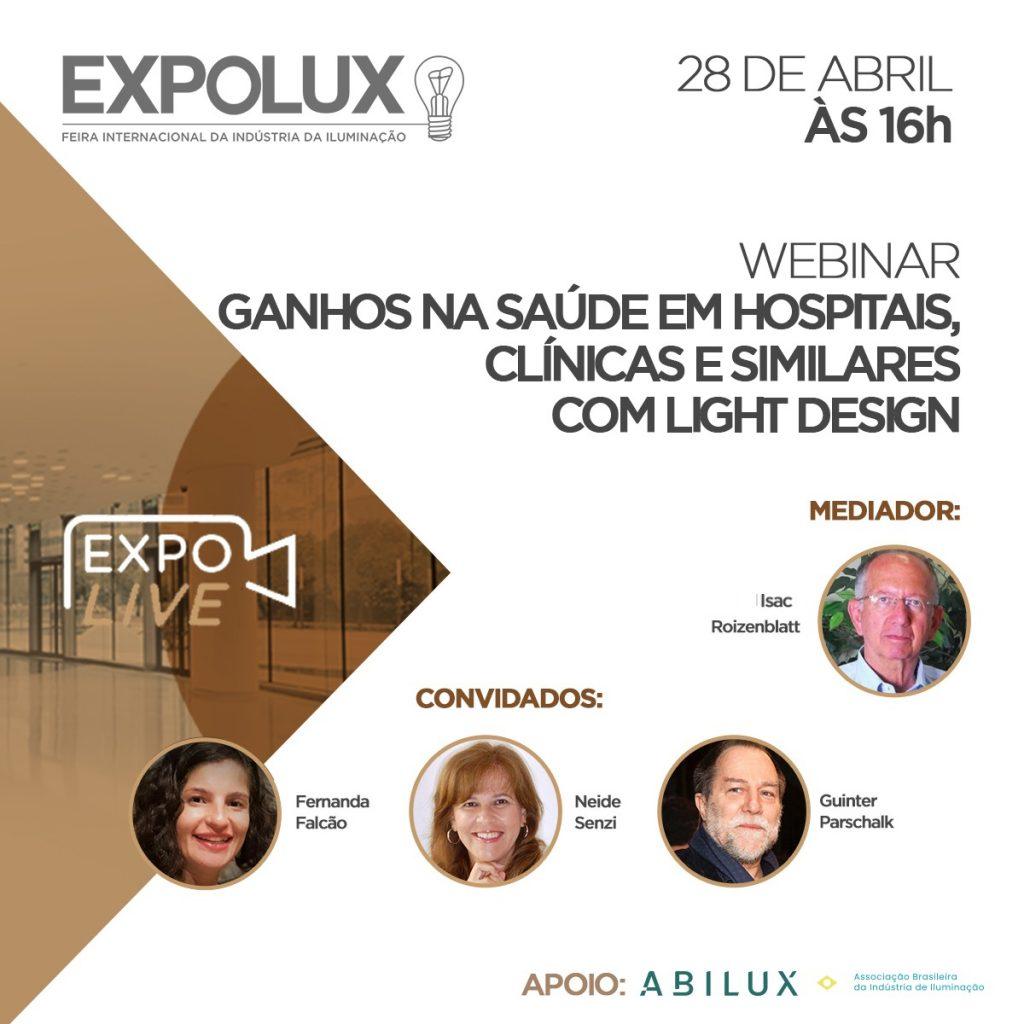 Expolux discute ganhos na saúde com light design em evento digital gratuito.